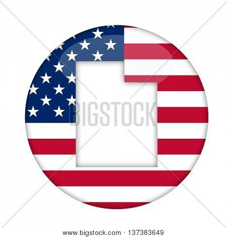 Utah state of America badge isolated on a white background.