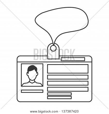 simple flat design personal identification card icon vector illustration