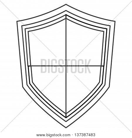 simple flat design pointy shield icon vector illustration