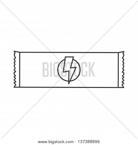 simple flat design energy bar icon vector illustration