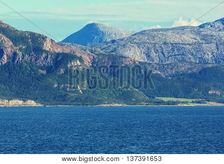Picturesque landscapes of the Norway