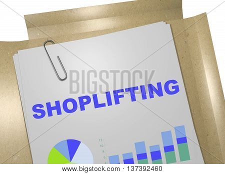 Shoplifting - Business Concept