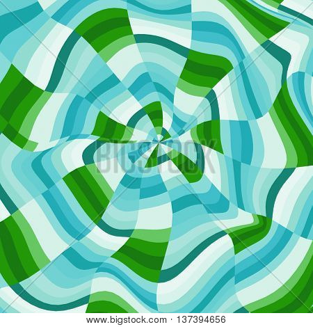 Abstract Background. Mosaic. Psychedelic Composition for Design. Polygonal Vector illustration.