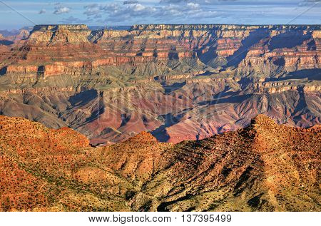 Grand Canyon view from Lipan Point, in Arizona.