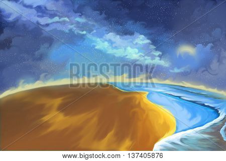 Creative Illustration and Innovative Art: Earth. Realistic Fantastic Cartoon Style Artwork Scene, Wallpaper, Story Background, Card Design