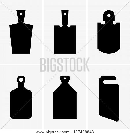 Set of six cutting boards, shade pictures