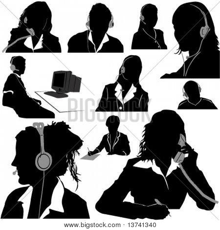 secretary and call center operator