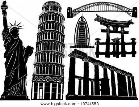 architecture and historical building vector 3