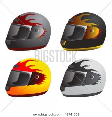 motorcycle helmet vector 1 (race type)