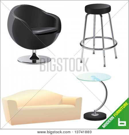modern furniture 6 vector