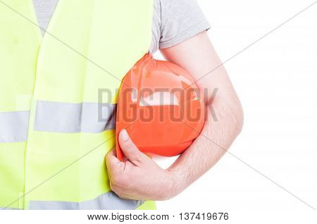 Protection Equipment Concept With Vest And Hardhat