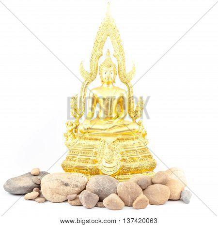 an wisdom Buddha whit an lot of stones