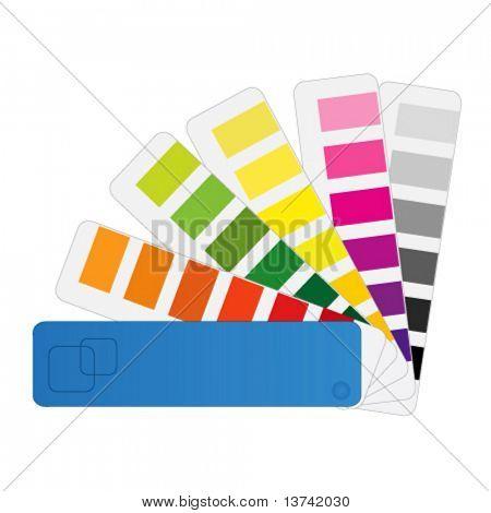 color chart vector (pantone)