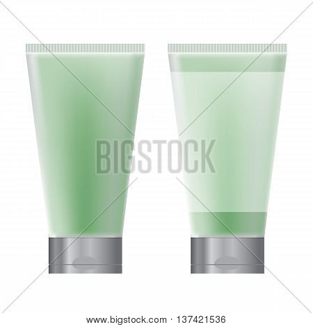 Tub for cosmetics set of green packaging for cosmetics