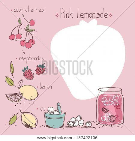 pink lemonade recipe template
