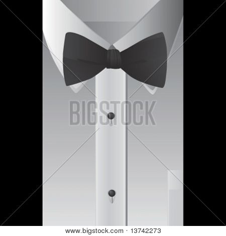 shirt and bowtie vector