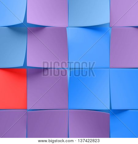 abstract 3d rendering backround with randomly rotated curled pages