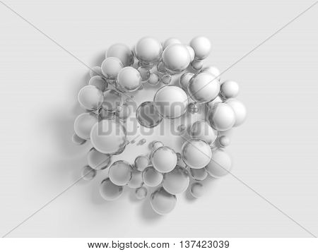 circular patterns 3d rendering background with smooth extruded shapes