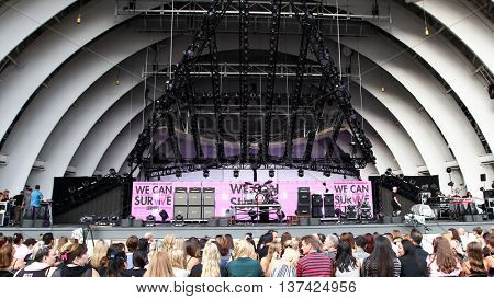 HOLLYWOOD, CA-OCT 24: General atmosphere before CBS RADIOs third annual We Can Survive, presented by Chrysler, at the Hollywood Bowl on October 24, 2015 in Hollywood, California.