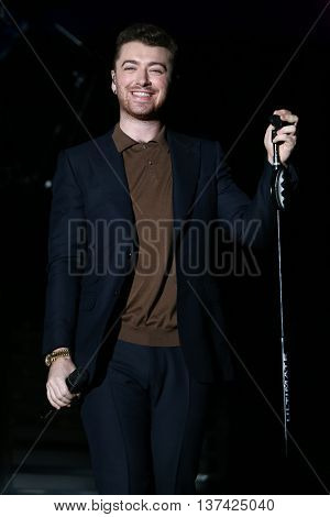 HOLLYWOOD, CA-OCT 24: Recording artist Sam Smith performs during CBS RADIOs third annual We Can Survive, presented by Chrysler, at the Hollywood Bowl on October 24, 2015 in Hollywood, California.