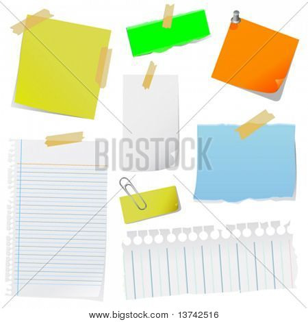 vetor do papel de nota