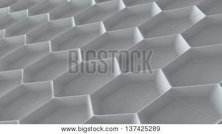 abstract 3d rendering background with repeating triangle pattern