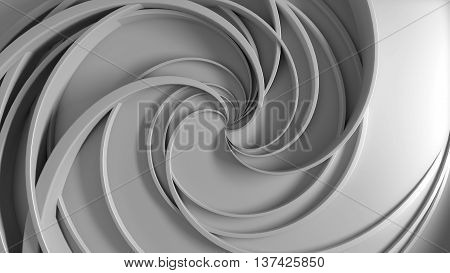 abstract 3d rendering background with twirl shapes