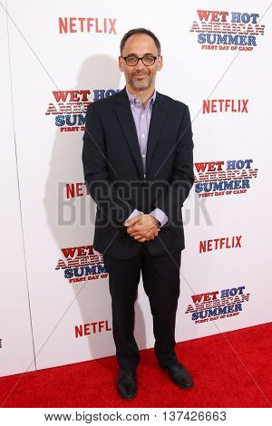 NEW YORK-JUL 22: Actor David Wain attends the 'Wet Hot American Summer: First Day of Camp' Series Premiere at SVA Theater on July 22, 2015 in New York City.