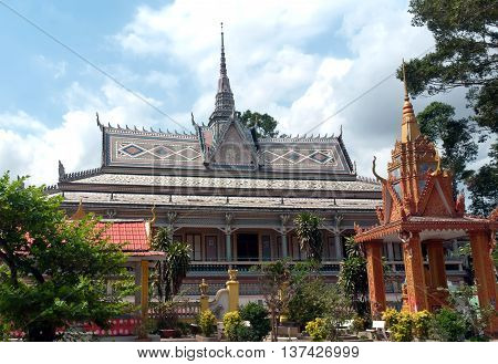 SOC TRANG, VIETNAM, June 24, 2016 Khmer temple, Soc Trang Province, Vietnam