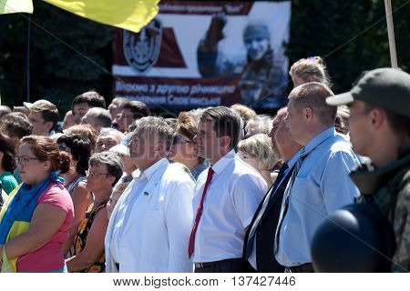 Mayor Of Sloviansk Vadim Lyakh And Others At The Meeting