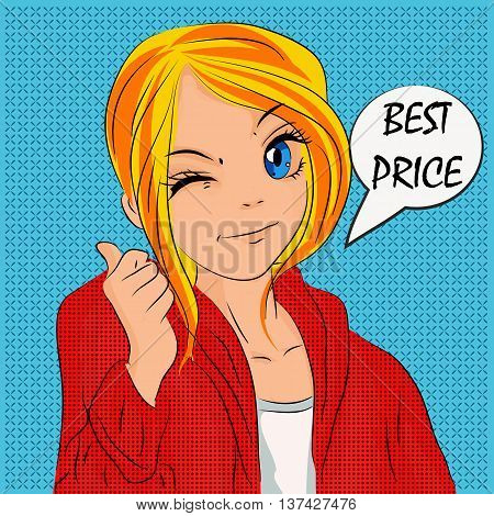 Illustration for shopping discounts and sales in cartoon style. It can be used on labels banners promotions cards and other interesting design for teens or children