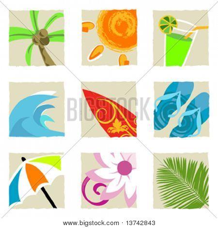 summer graphics vector