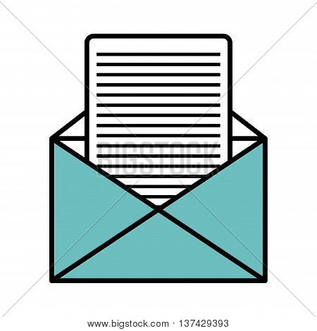 Email or mailing isolted flat icon, vector illustration graphic.