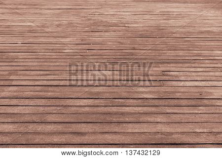 wooden floor from brown boards for the textured and indistinct background