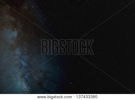 Milky Way background or wallpaper with plenty of copy space