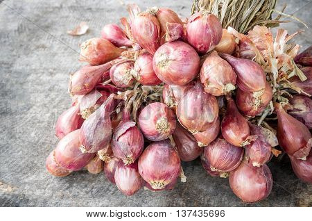 Many Red Onions.