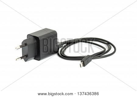 Charger for usb devices with micro usb cable.
