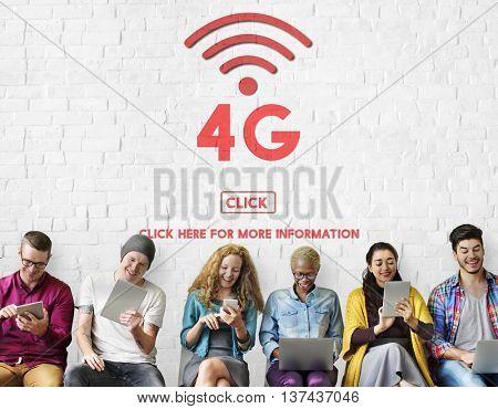 4G Digital Internet Network Technology Wifi Concept