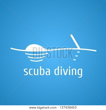Diving and snorkeling vector logo icon symbol emblem sign design element. Scuba diving illustration