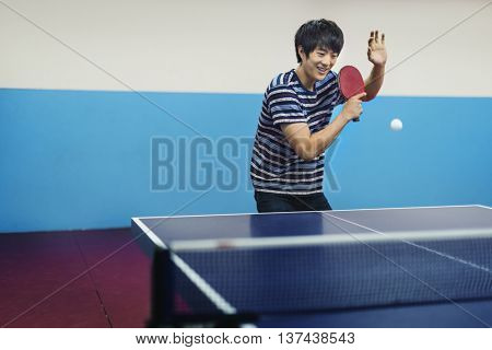 Table-Tennis Athlete Ping-Pong Sportsman Sport Concept