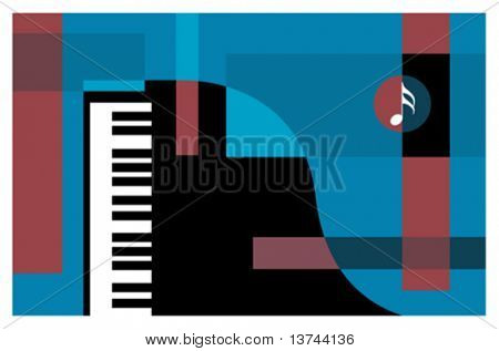 abstract music background (piano)