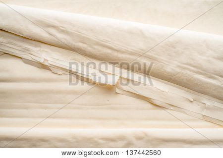 Filo dough sheets background cooking, preparation, cuisine,horizontal, close-up