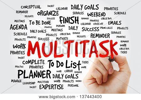 Hand Writing Multitask Word Cloud