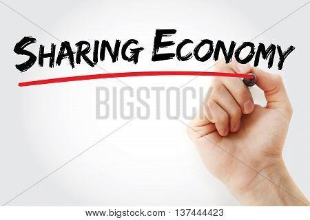 Hand Writing Sharing Economy