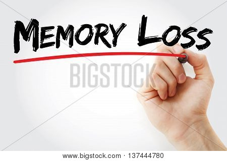 Hand Writing Memory Loss With Marker