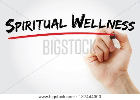 Hand Writing Spiritual Wellness