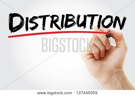Hand Writing Distribution With Marker