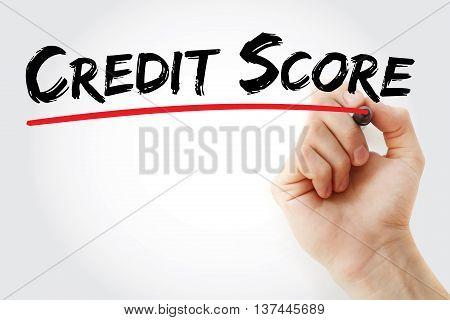 Hand Writing Credit Score