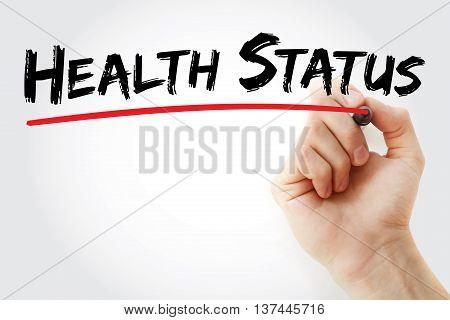Hand Writing Health Status