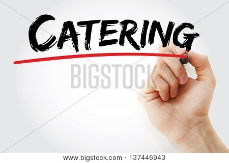 Hand Writing Catering With Marker